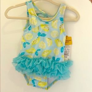 Cat and Jack Baby Girl Lemon Swim Suit
